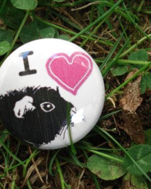 """Button """" Ich liebe Meerschweinchen"""""""