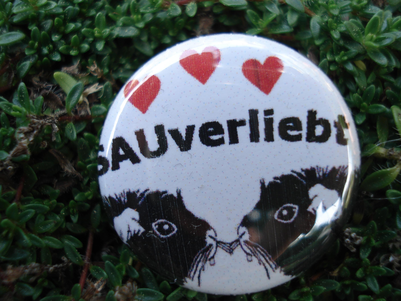"""Button """"sauverliebt"""""""
